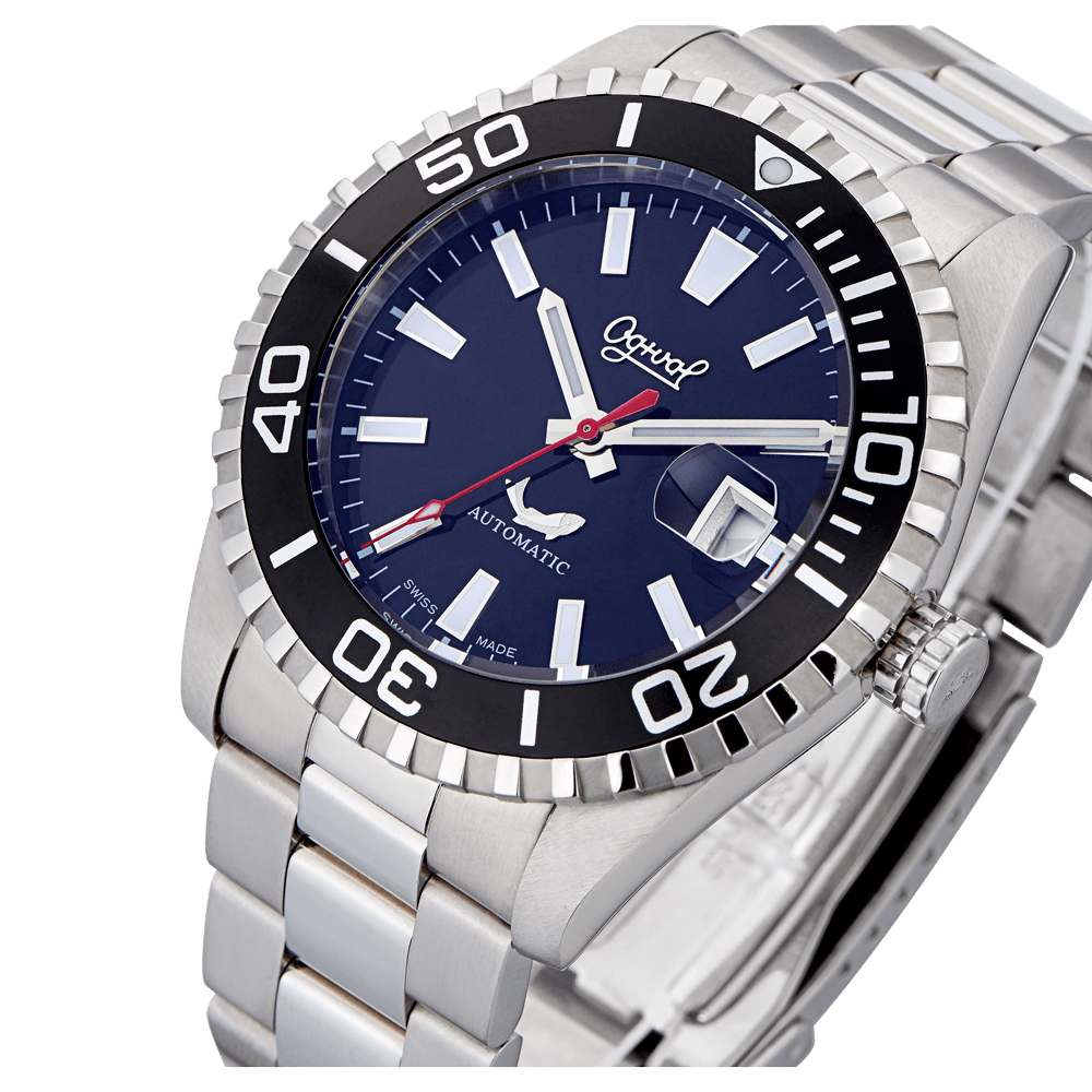 OGIVAL愛其華  黑水鬼 夜之王者運動機械腕錶 3385ags/44mm