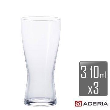【ADERIA】薄吹啤酒杯-M x3入組 B-6770 / 日本製 石塚哨子 耐溫120度 玻璃杯 紅酒 小酌 宴客