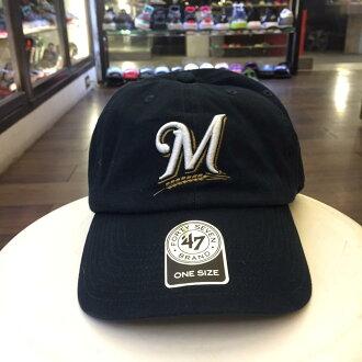 BEETLE 47 BRAND 老帽 密爾瓦基 釀酒人 MILWAUKEE BREWERS DAD 大聯盟 MLB 深藍 MN-380