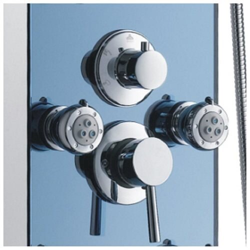 AKDY AK-878392H Tempered Glass Shower Panel Rain Style Massage System 1