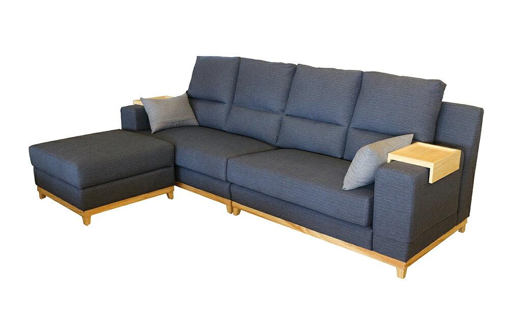 【尚品家具】 220-04 村上L型布沙發(可改色、尺寸)/客廳沙發/會客沙發/ L-Shaped Sofa