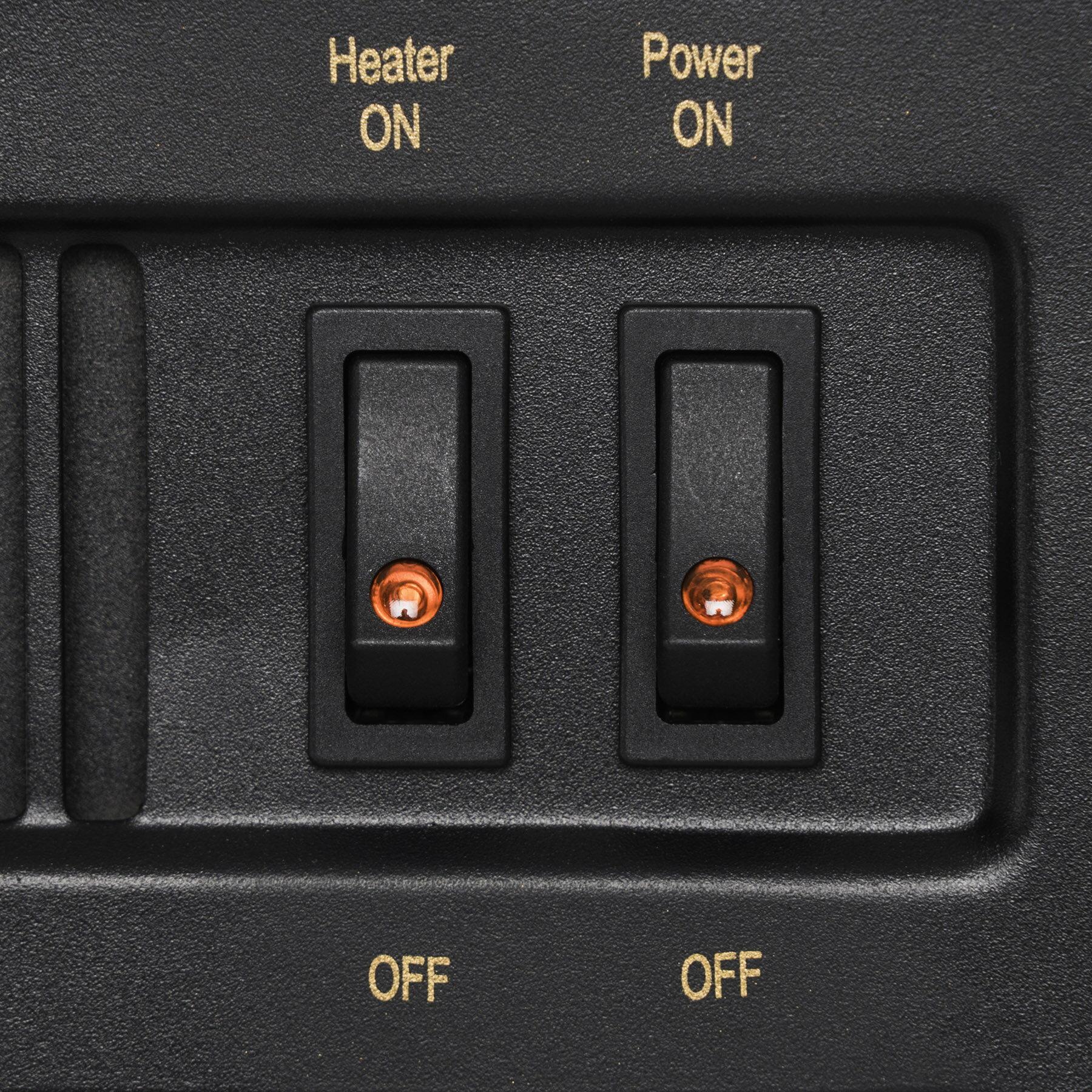"AKDY 27"" Electric Fireplace Freestanding White Wooden Mantel Firebox 3D Flame w/ Logs Heater 5"