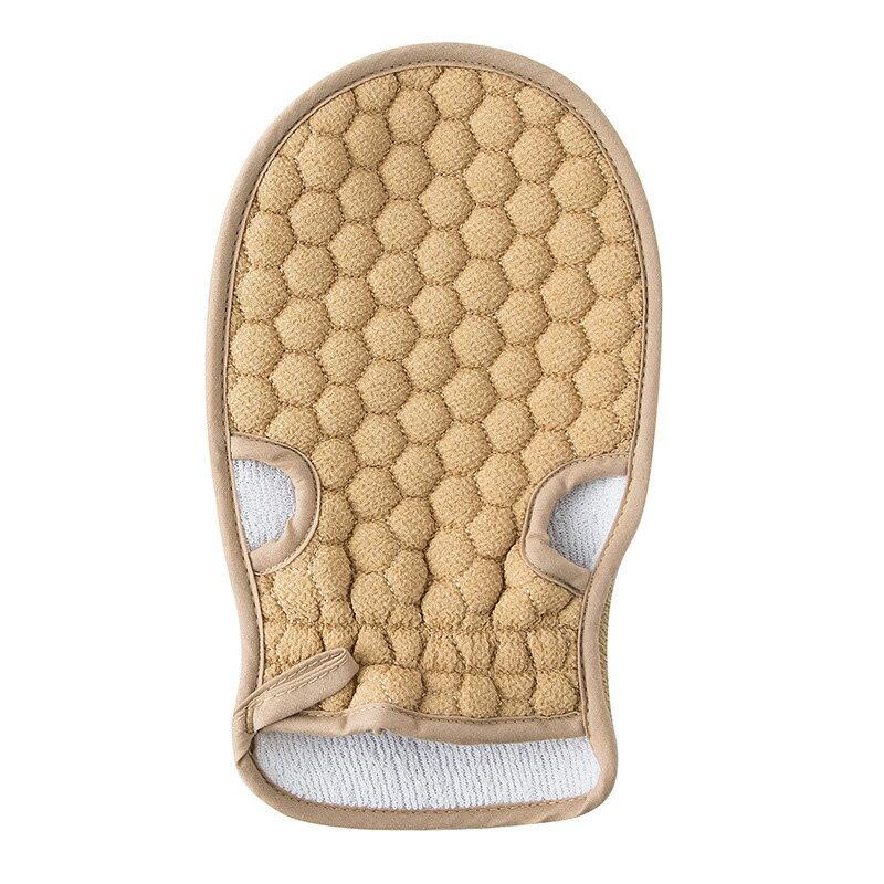 蜂窩雙面沐浴手套 天然植物纖維不刺激皮膚 去角質洗澡手套 搓澡巾 按摩毛巾手套 搓背手套【ZI0210】《約翰家庭百貨