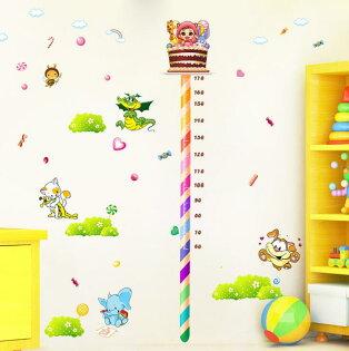 DIY無痕創意牆貼壁貼-糖果身高貼_XL8082