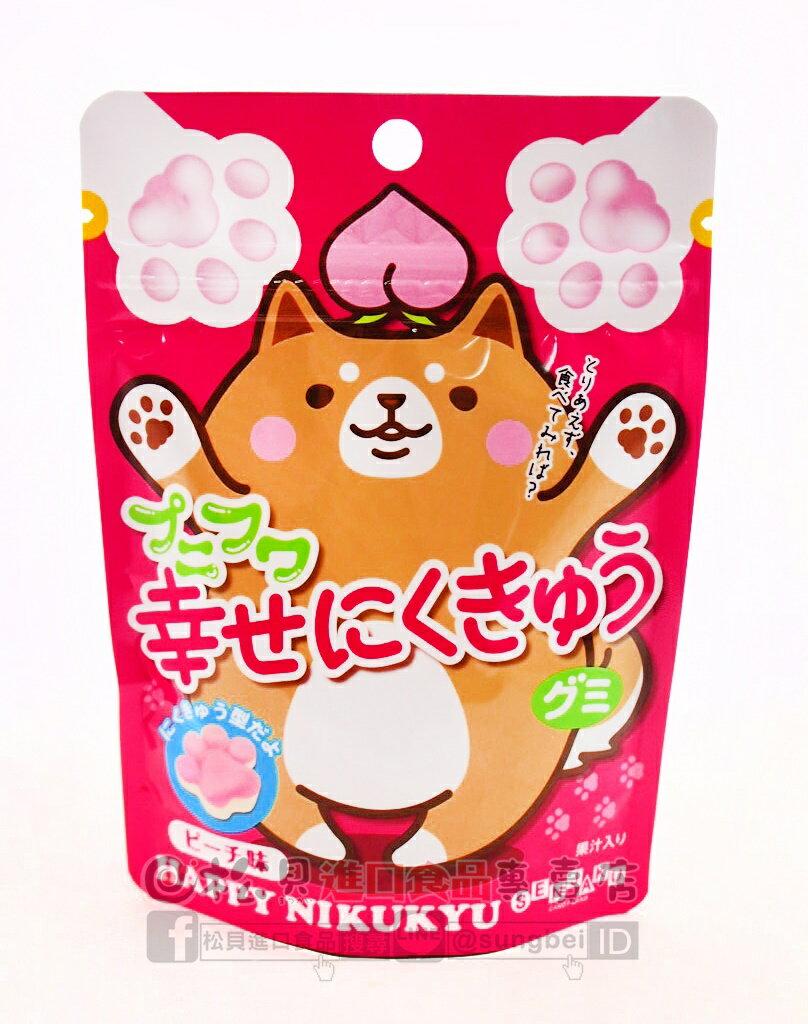 《松貝》扇雀飴幸福犬掌Q軟糖(水蜜桃)57g【4901650228164】cc118