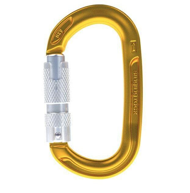 ├登山樂┤捷克Singing Rock 鋁合金自動三段鎖橢圓形鉤環 # K0122EE07 金