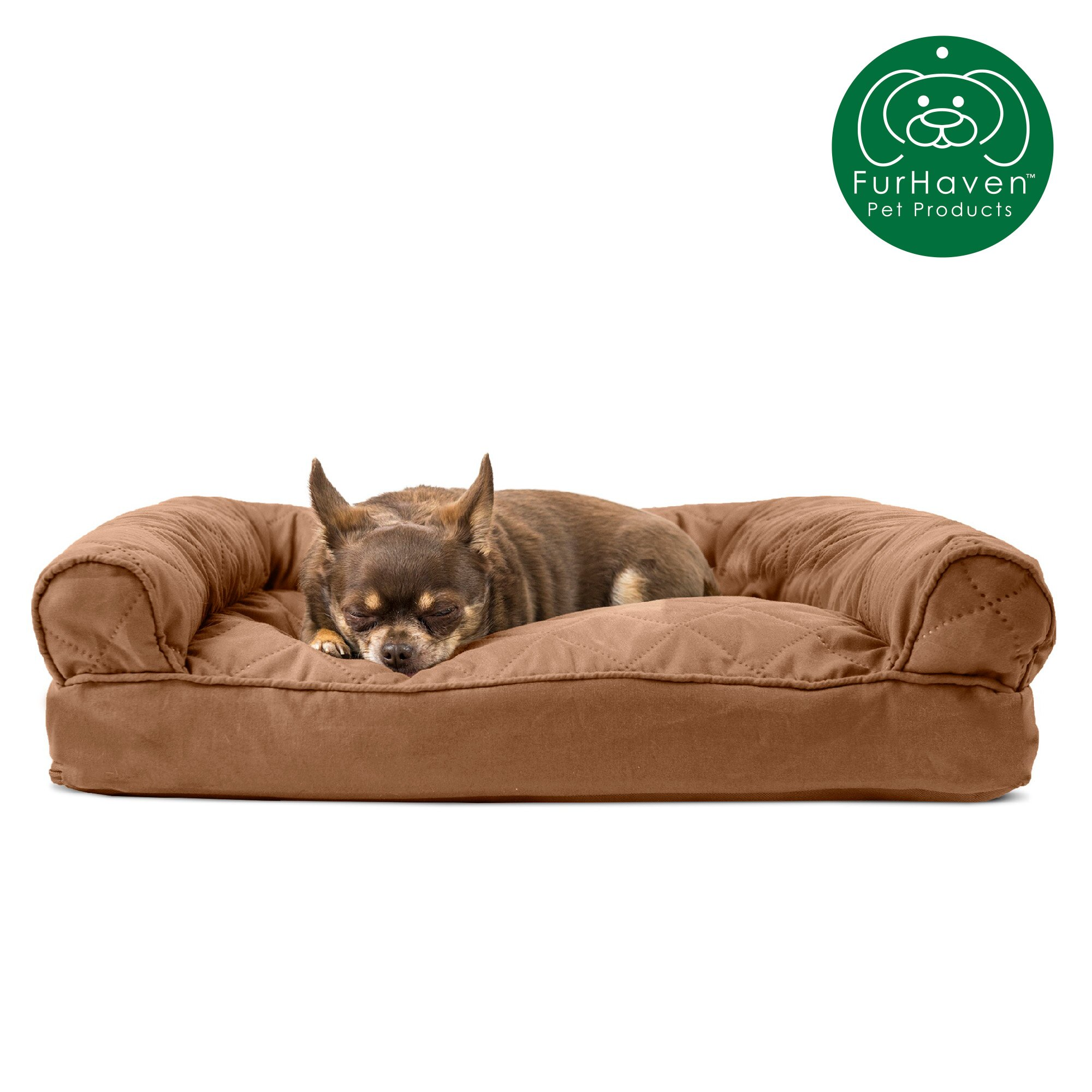 Brilliant Furhaven Pet Dog Bed Quilted Pillow Sofa Style Couch Pet Bed For Dogs Cats Available In Multiple Colors Sizes Ncnpc Chair Design For Home Ncnpcorg
