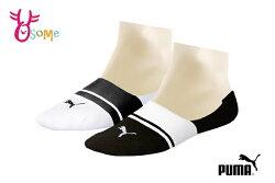 PUMA NOS條紋 船型襪 隱形襪 裸襪 運動襪 台灣製 襪子 一雙入 SX353 SX354#白黑◆OSOME奧森鞋業