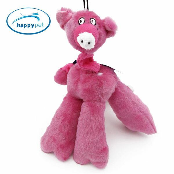 【生活家購物網】英國HappyPet 狗狗玩具 伸縮豬 發聲玩具 潔齒磨牙 頭尾相連可伸縮 #15798