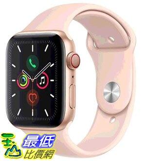 [COSCO代購] W125290 Apple Watch Series 5 (GPS + 行動網路),44 公釐金色鋁金屬錶殼搭配粉色運動型錶環