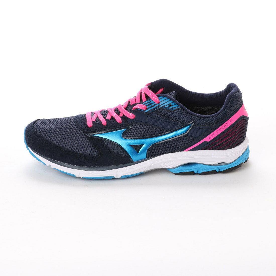 MIZUNO WAVE AERO 16 女鞋 慢跑 馬拉松 休閒 籃 粉紅【運動世界】J1GB173525