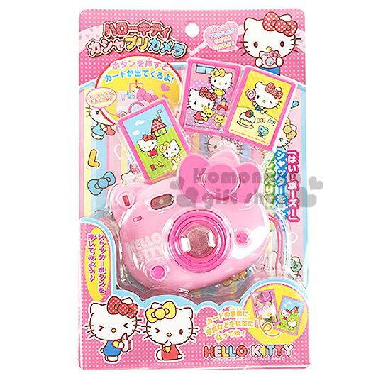 〔小禮堂嬰幼館〕Hello Kitty 造型照相機玩具《附提繩.粉.大臉》適合3歲以上孩童