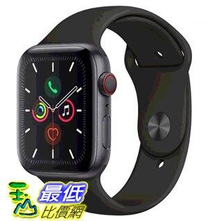 [COSCO代購] W125294 Apple Watch Series 5 (GPS + 行動網路),44 公釐灰色鋁金屬錶殼搭配黑色運動型錶環