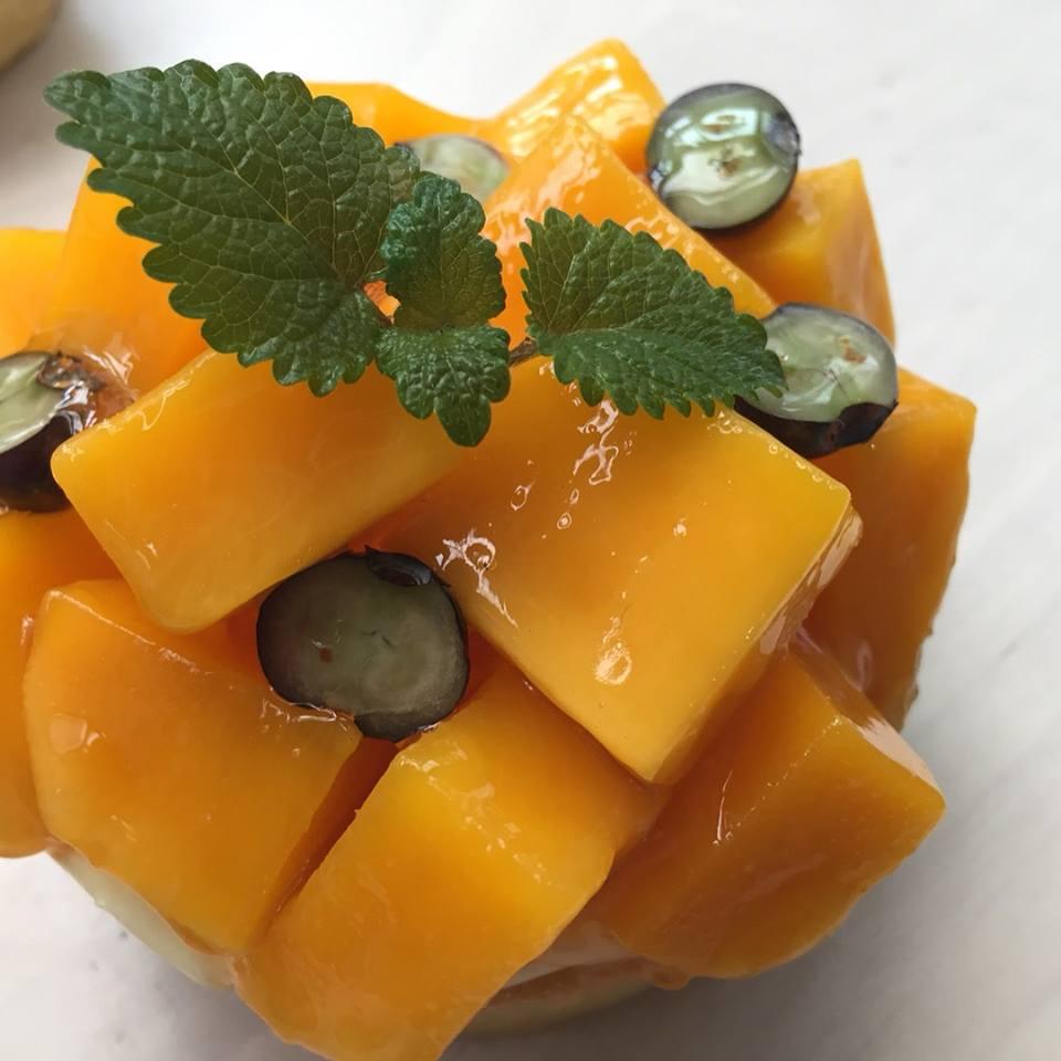 3吋芒果塔(可替換當季水果。不建議宅配,但台北市新北市量多親送或自取)
