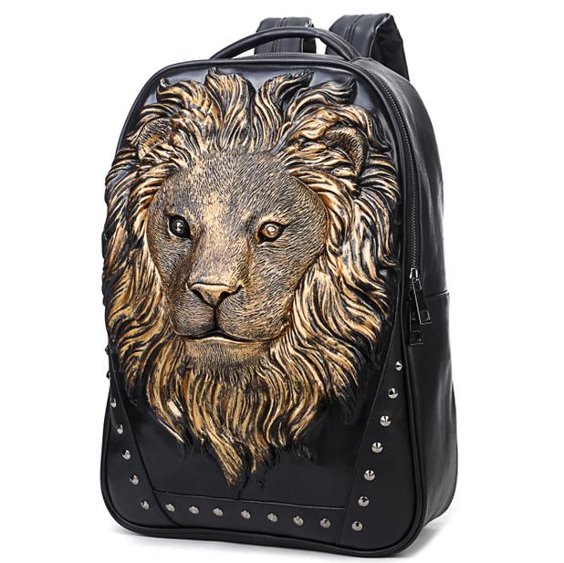 ~3D獅子頭包~雙肩包 後背包 手提包 電腦包 街頭嘻哈風