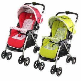 babybabe 歐風雙向加寬秒收車 綠/紅『121婦嬰用品館』