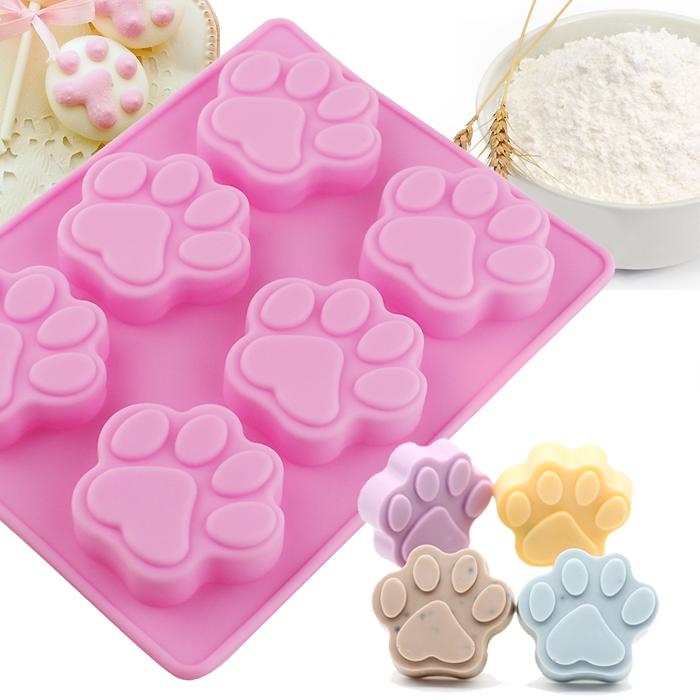 《波卡小姐》DIY可愛貓爪模具 自製造型蛋糕 冰塊 巧克力 手工皂 粉紅矽膠烤盤模具