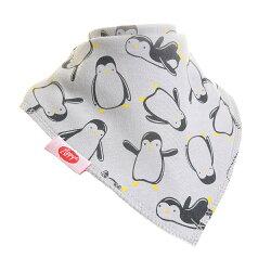 英國ZIPPY 幼兒時尚口水巾單入 (企鵝灰)