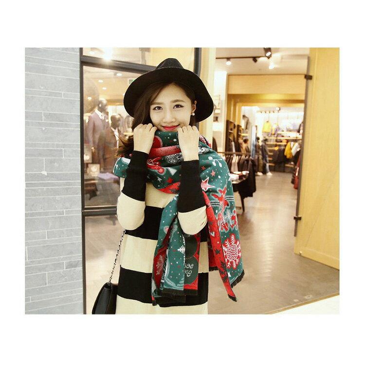 圍巾 繽紛圖騰印花毛邊披肩/圍巾【LQD174】 BOBI  10/20 2