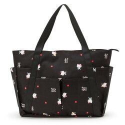 大賀屋 Hello kitty 大容量 包包 側背包 旅行包 外出 三麗鷗  KT 凱蒂貓 正版 授權 L00010561