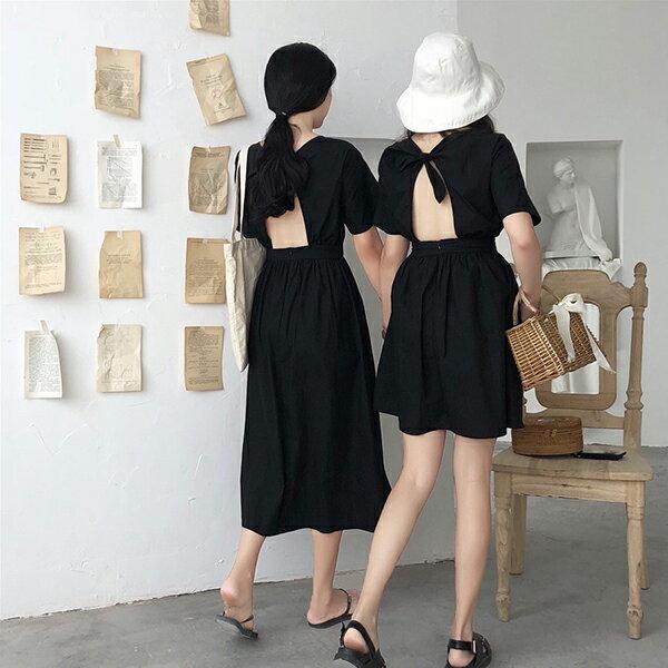PS Mall 簡約小黑裙露背閨蜜款連身裙(短款)【T588】 - 限時優惠好康折扣