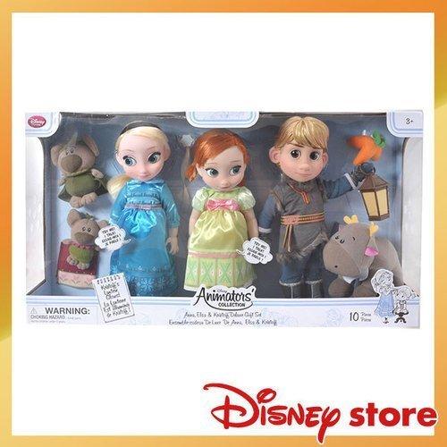 【真愛日本】16121900031日本專賣店限定Q版公主套組-冰雪奇緣   迪士尼 冰雪奇緣 Frozen   娃娃 公仔 玩偶 人偶 正品 限量