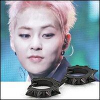 【特價】EXO Xiumin LAY 同款號角形多尖錐圓環耳環 (單支價)