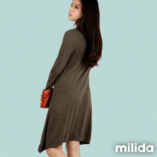 【Milida,全店七折免運】-秋冬單品-洋裝款-長版休閒風 4