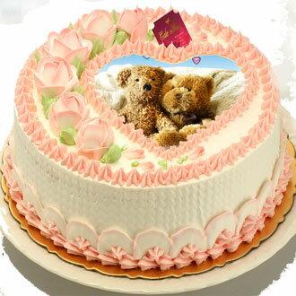 【羅撒相片蛋糕】傳達心意首選~「玫瑰情人相片蛋糕」