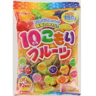 【糖果王】日本Ribon 立夢綜合水果糖(10種口味)