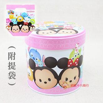 【0216零食會社】北日本-Disney TsumTsum雙味餅乾罐59g(附提袋)
