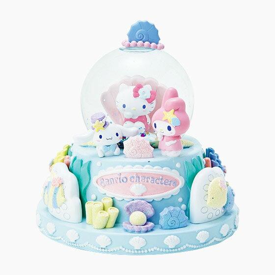 【真愛日本】4901610346471 水晶球-MX海底世界AAU 三麗鷗kitty美樂蒂大耳狗 貝殼 擺飾裝飾品