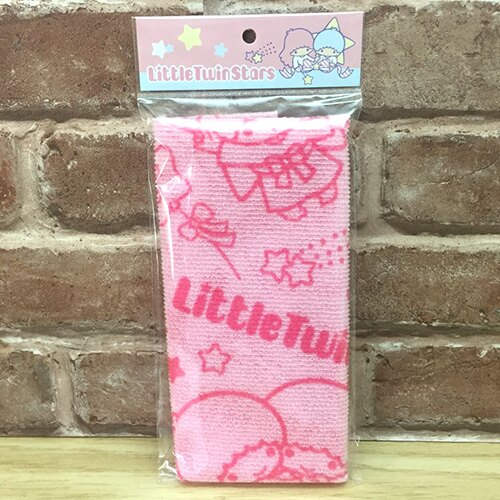 【真愛日本】 17051100017 沐浴巾-TS星星粉 三麗鷗 kikilala 雙子星 洗澡巾 去角質 盥洗用品