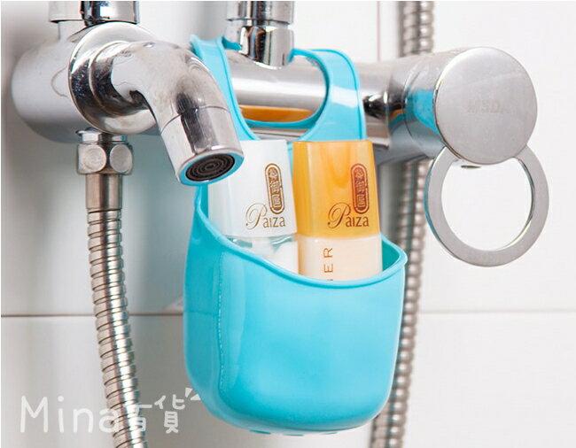 (mina百貨) 按扣式掛籃 【水龍頭瀝水籃】 多用途瀝水籃 水龍頭 廚房 瀝水 F0029