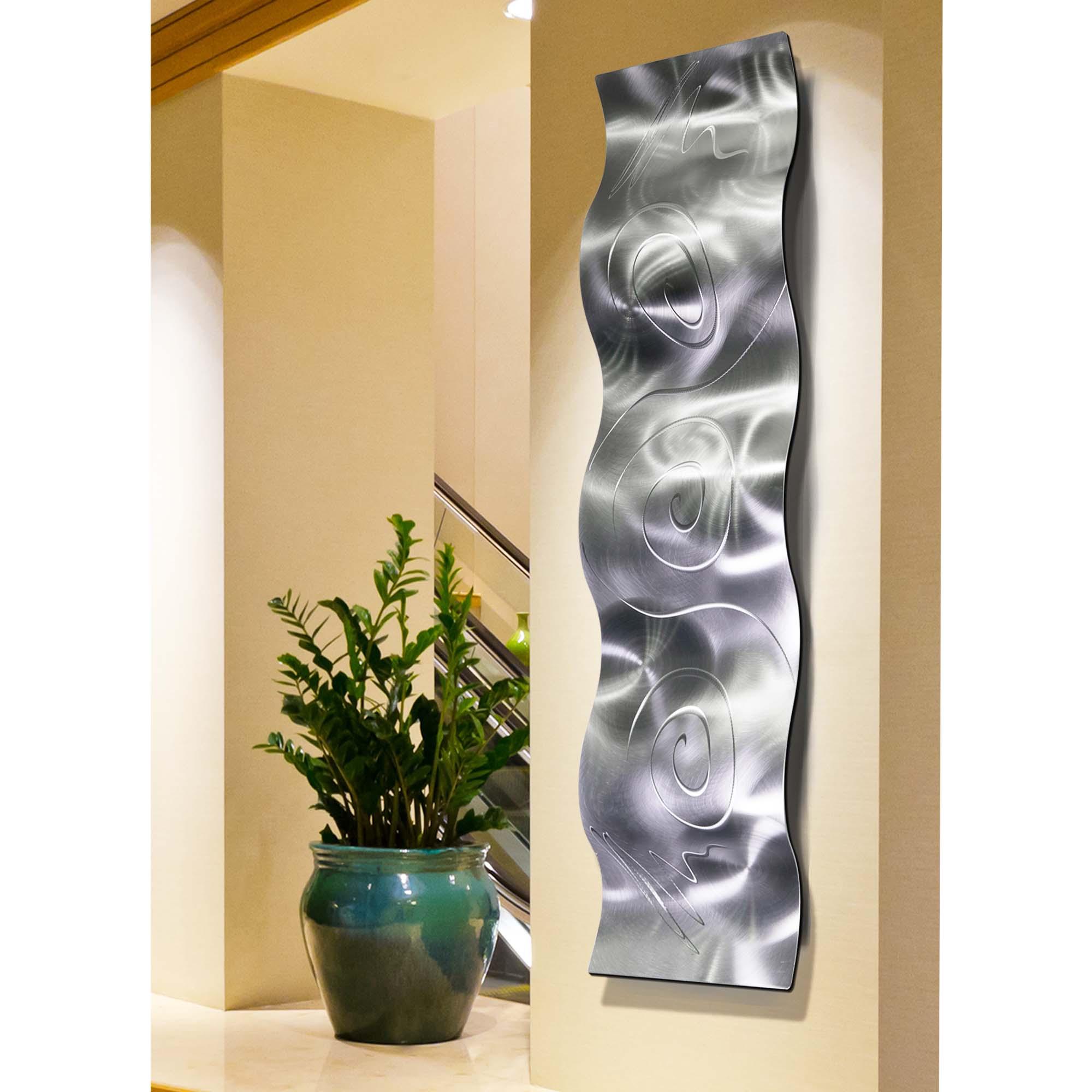 Art Statements2000 Modern 3D Metal Wall Art Accent Sculpture Yellow Decor Jon Allen