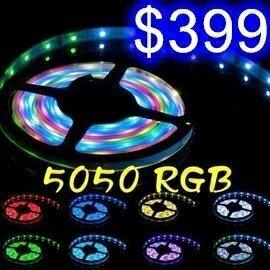 五米10mm LED燈條 5050RGB七彩防水跑馬燈條 12V5A變壓器 送44鍵遙控器 PUB/PARTY