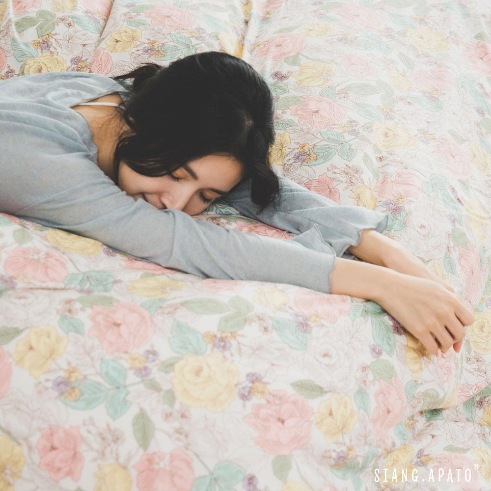 純棉 床包被套組(薄) 單人【Blossom】ikea風格 100%精梳純棉 翔仔居家│好窩生活節