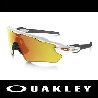 OAKLEY 太陽眼鏡 RADAR EV PATH 白色/黃色 鍍銥 指紋系列 運動款 防霧 雨水不附著 附眼鏡盒 OO9208-16 萬特戶外運動
