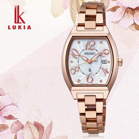 SEIKO日本精工LUKIA林依晨代言經典愛戀太陽能酒桶腕錶V137-0CE0G/SSVN028J公司貨