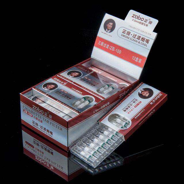 一次性zobo正牌三重過濾器煙嘴300支男女吸煙抽煙細支專用神器