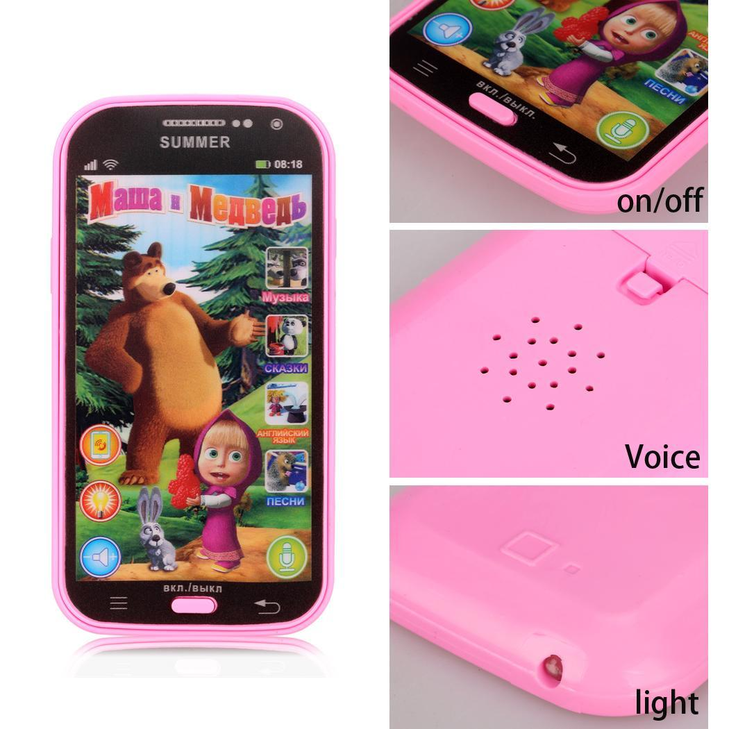 ABS  Russian Language Educational Telephone Toy Phone 4