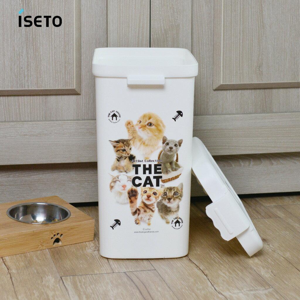 日本ISETO 寵物飼料零食密封收納桶-13L 0