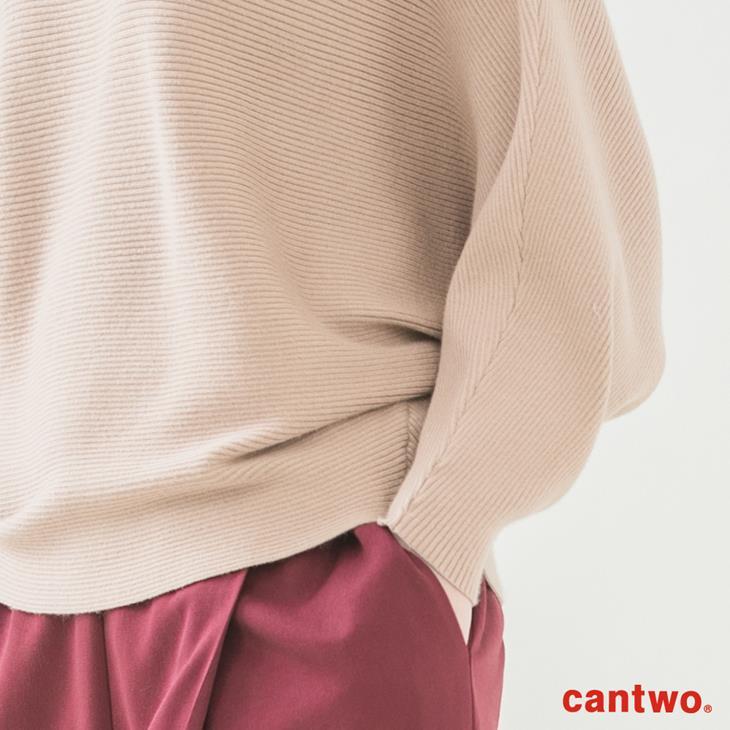 cantwo素色船型領蝙蝠袖針織上衣(共二色) 5