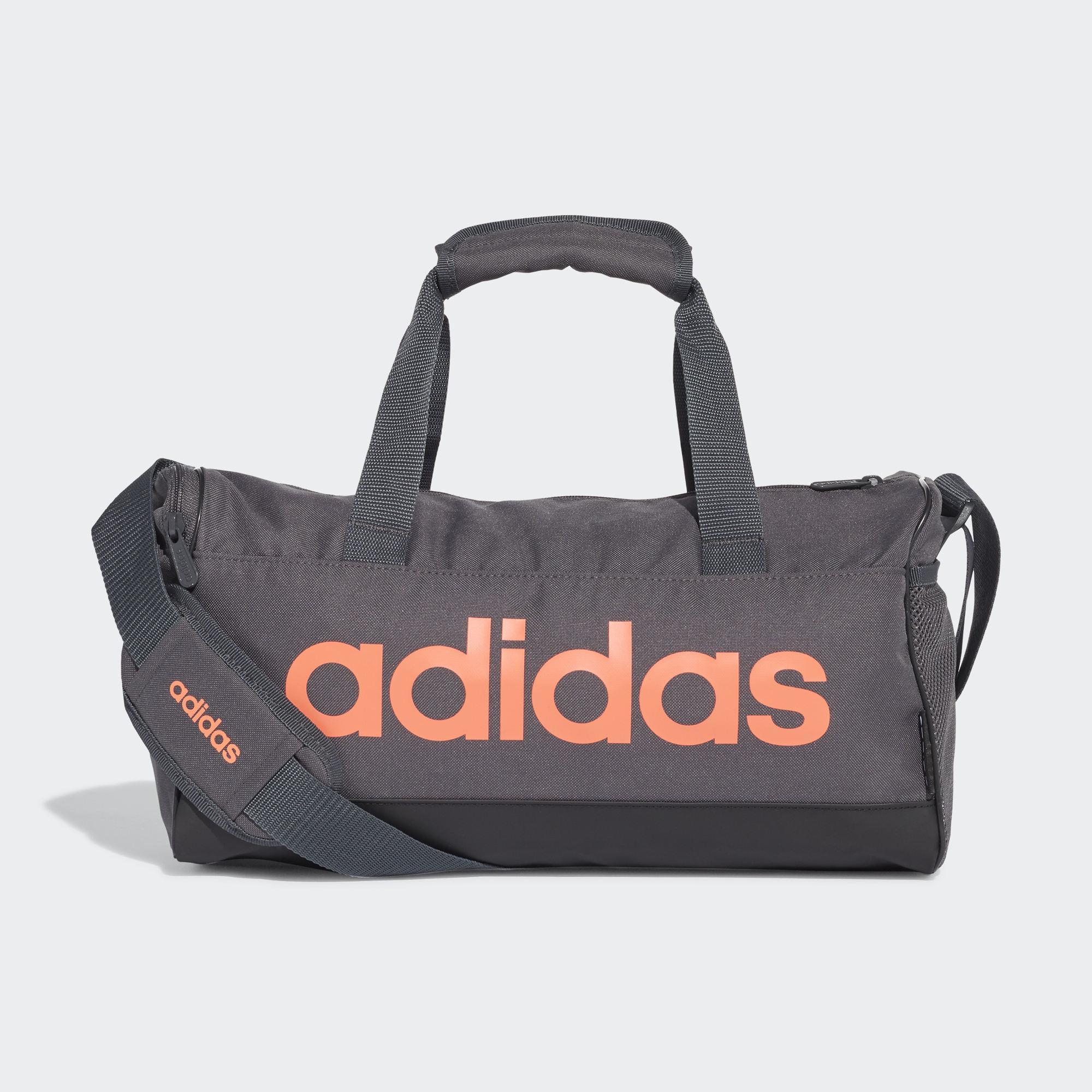 Adidas Linear Duffle NS 旅行袋 手提 健身 灰橘【運動世界】FM6749