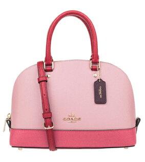 (COACH)年度新款貝殼包小號女士單肩斜挎包F57499粉紅色