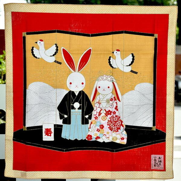 兔子的結婚式屏風日式輕鬆改變居家風格裝飾日本製