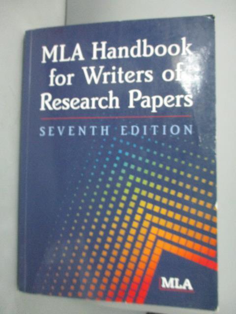 ~書寶 書T6/電腦_ZEK~MLA Handbook for Writers of Re