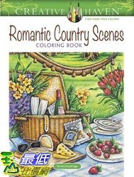 [7美國直購] 暢銷畫冊書 Creative Haven Romantic Country Scenes Coloring Book (Adult Coloring)