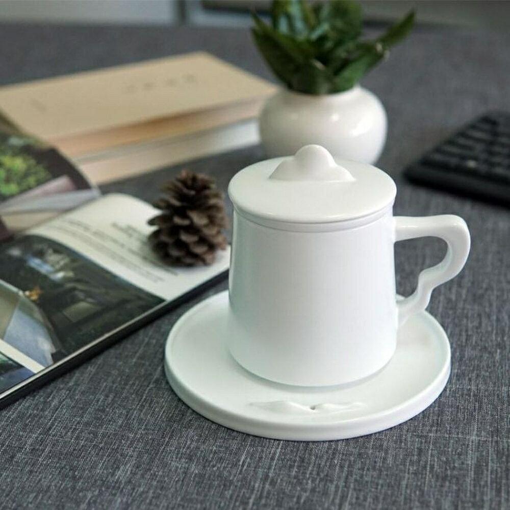 定制陶瓷茶杯過濾帶蓋功夫茶具辦公喝茶水杯泡茶杯茶水分離禮品情侶杯 歐韓時代