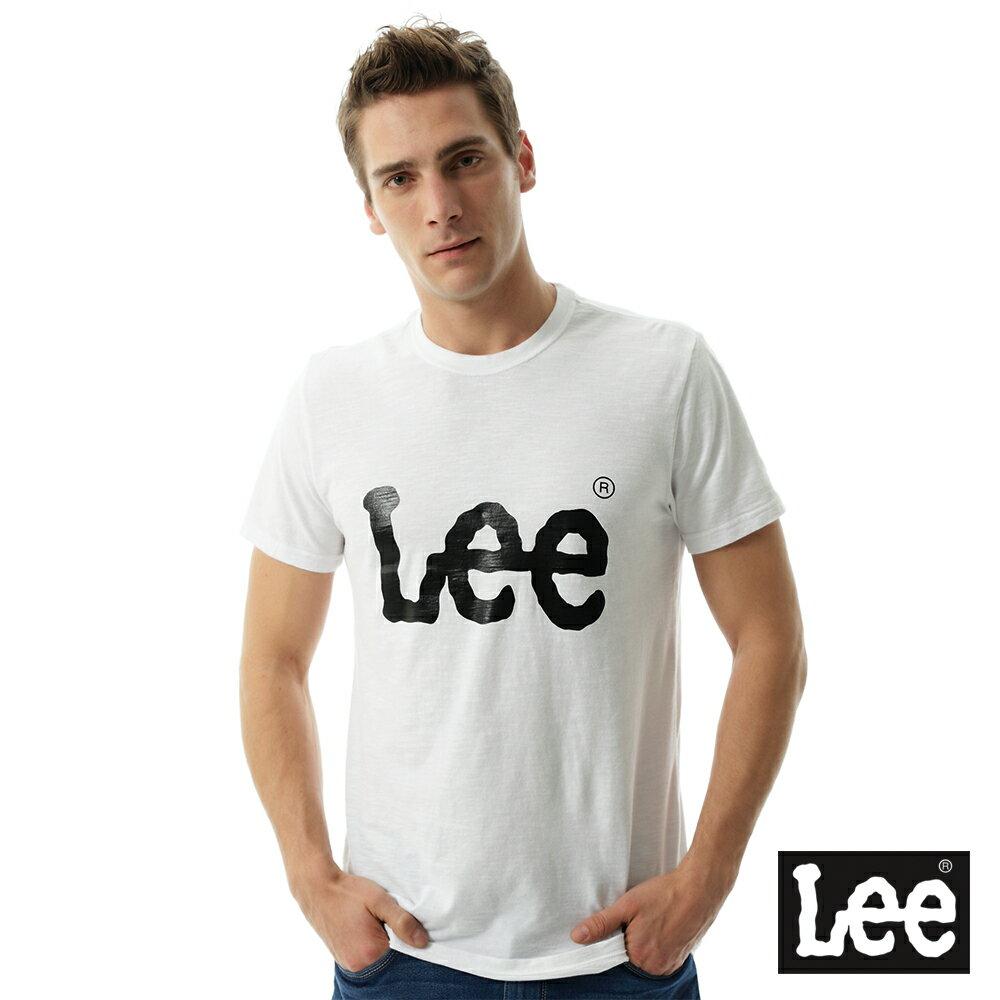 Lee大LOGO短袖圓領T